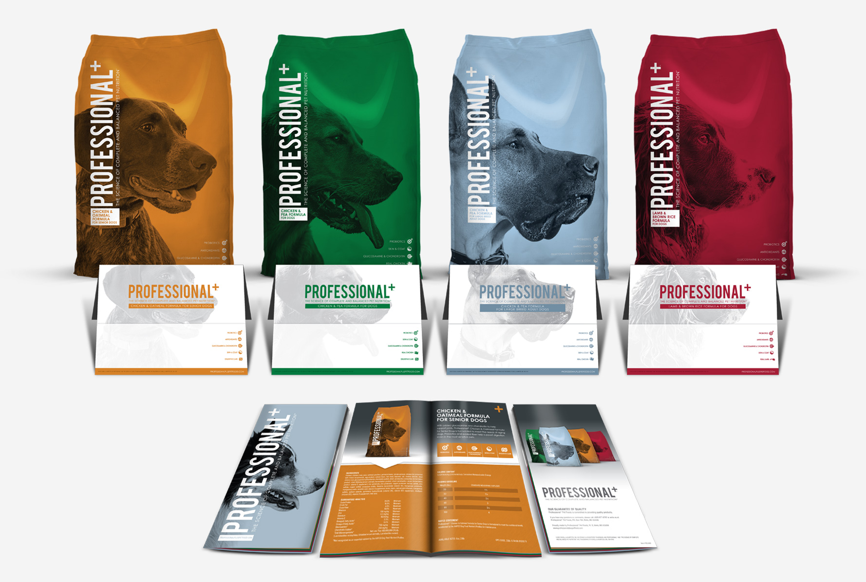 Professional+ Formula for dogs, new printed brochures for all formula for dogs
