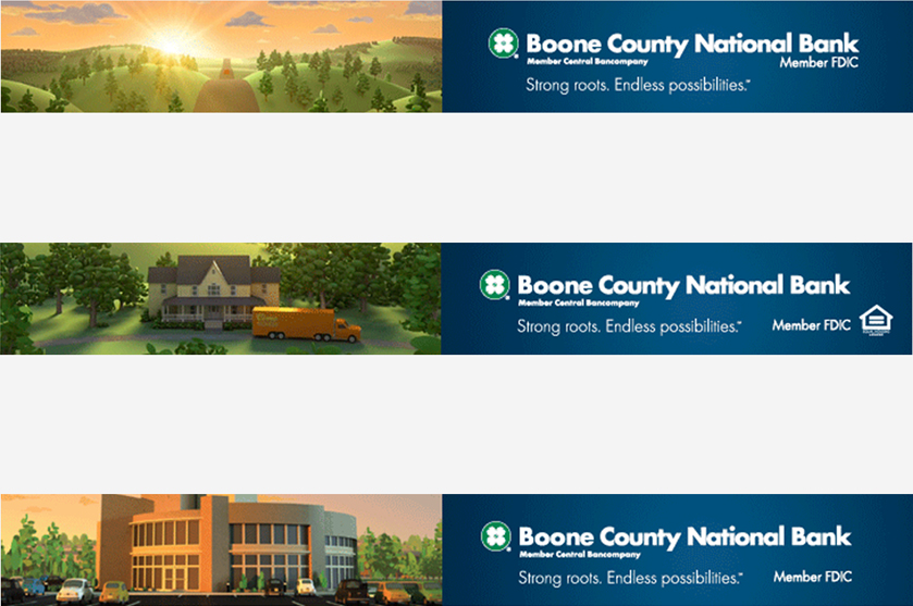 Boone County Bank Roots Campaign banner ads