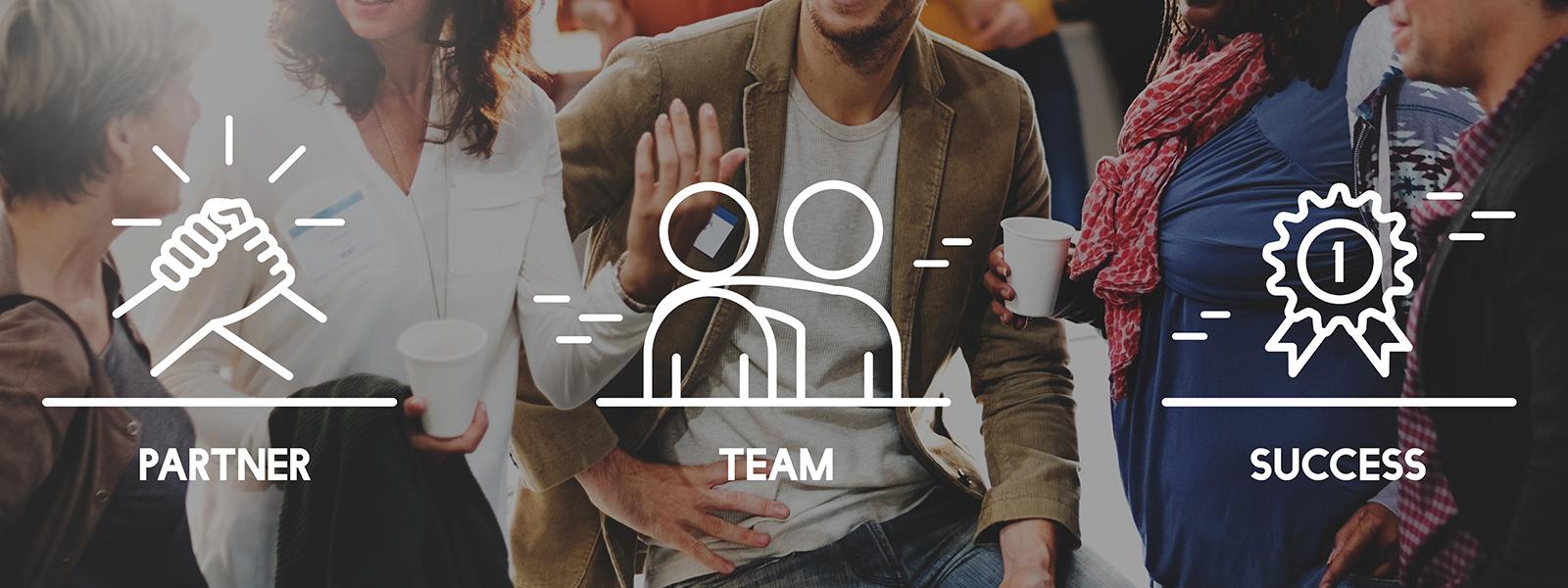 Partner team success icons