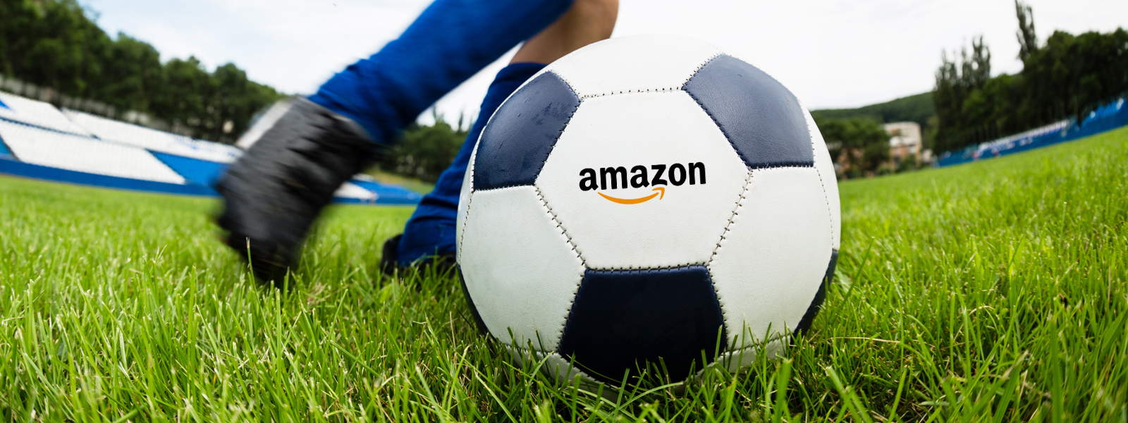 Amazon logo on a soccer ball