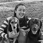 Samantha Randall With Her Dogs